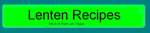 Colour Green Lenten Recipes