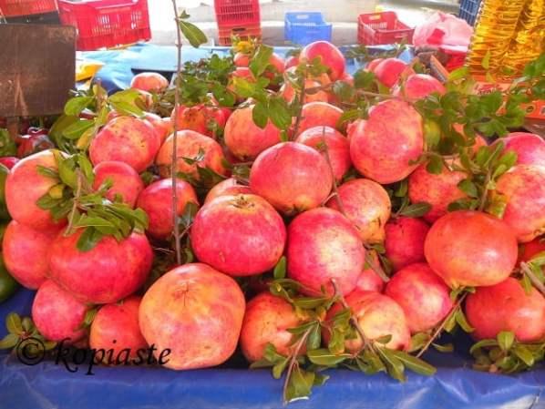 pomegranate in farmers market