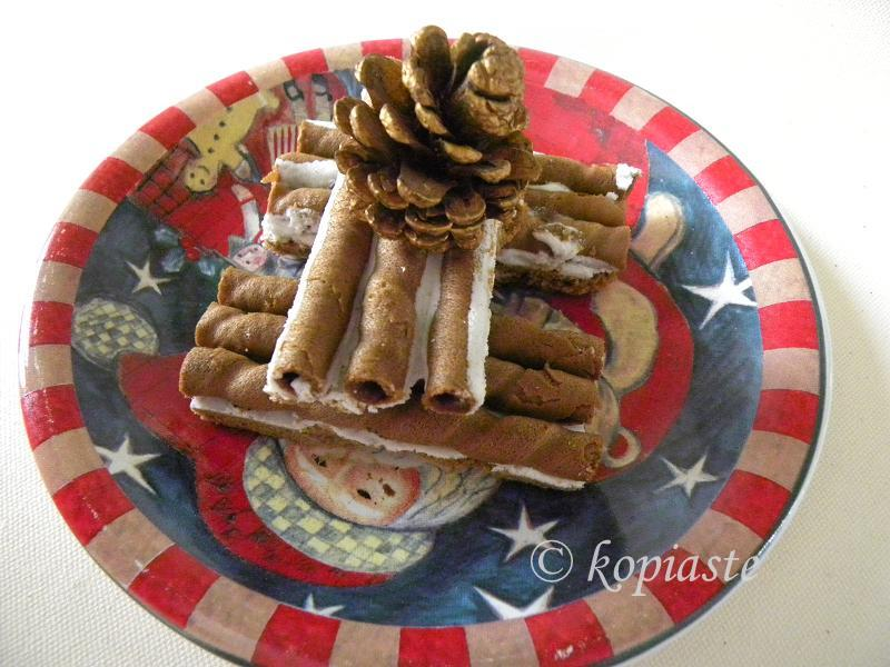 Gingerbread Cigar Cookies