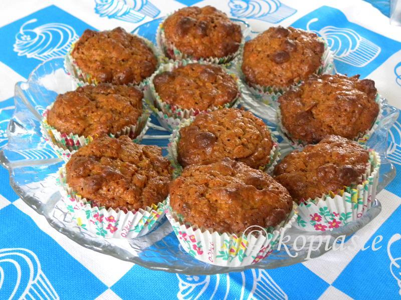 Banana Cereal Raisin Muffins with Petimezi