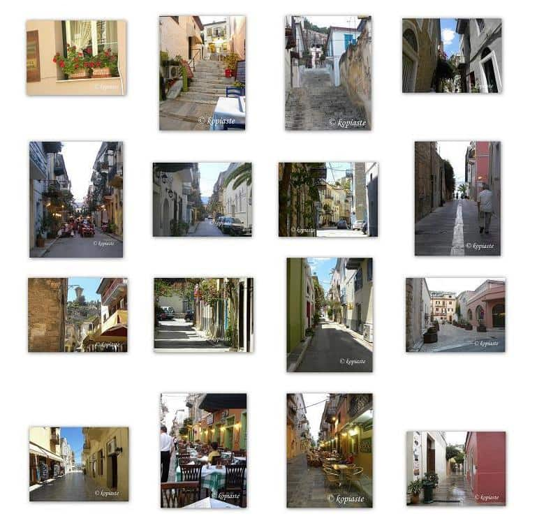 Collage Nafplion narrow streets