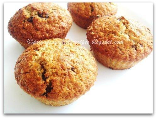 Grapefruit, oats & chocolate chip muffins, by Priya
