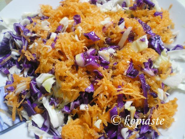 Purple Cabbage and Carrot Salad