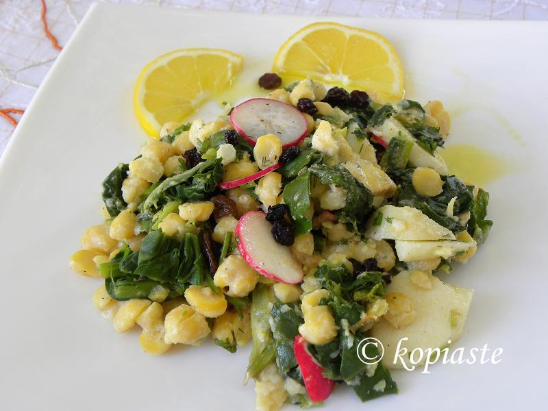 Revithosalata with Chard and Taramas