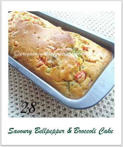 28 Savoury Bellpepper & Broccoli Cake, by Priya