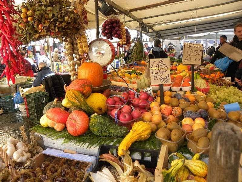 Farmers market in Rome