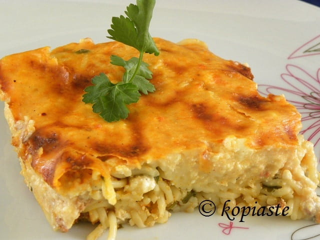 Anthotyro and Paprika Pastitsio