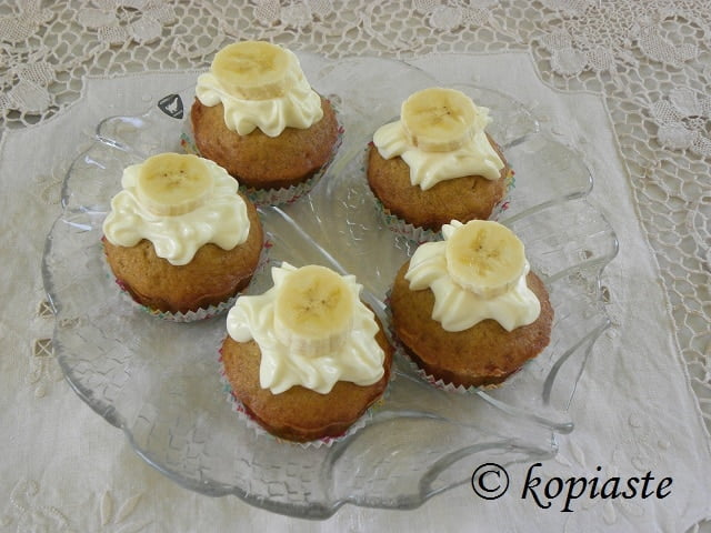 Masticha Banana Cupcakes