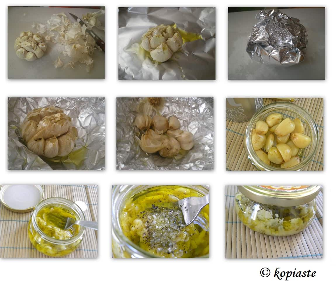 Collage 2 How to roast garlic