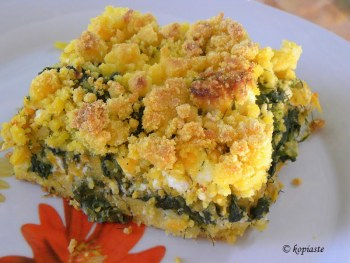 cornmeal-crumble-with-butternut-squash-spinach-and-feta