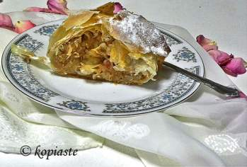 Apple strudel with store bought phyllo