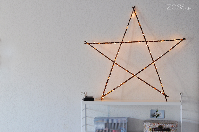 fabriquer une etoile lumineuse tutoriel diy. Black Bedroom Furniture Sets. Home Design Ideas
