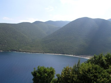 Antisamos - with its turquoise waters that reach out to touch the incredibly white pebbles. For those of you that have seen 'Captain Corelli's Mandolin', this is where parts of the movie were filmed.