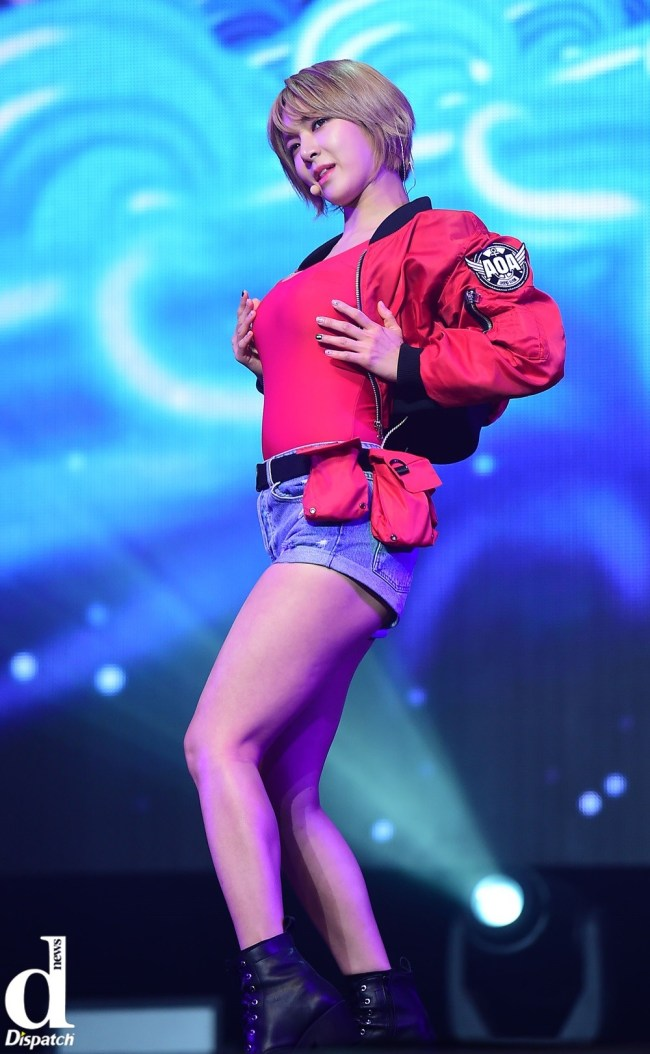 Image: AOA Choa during Good Luck showcase / Dispatch