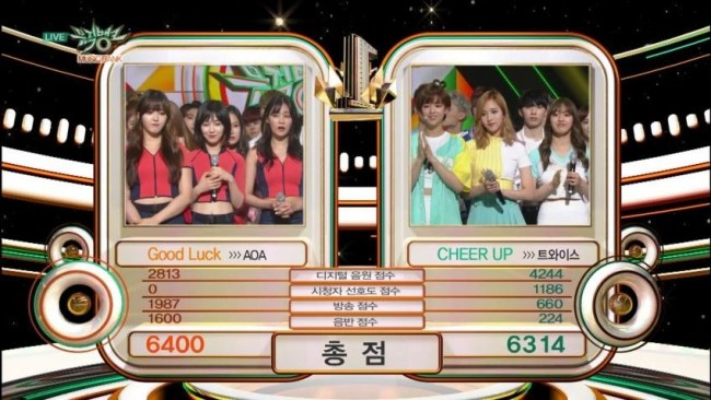 Image: AOA vs Two times on Music Bank 05.27.2016 / KBS