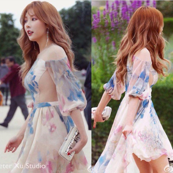 Image: Fan taken photo of Hyuna attending Paris Fashion Week (2016)
