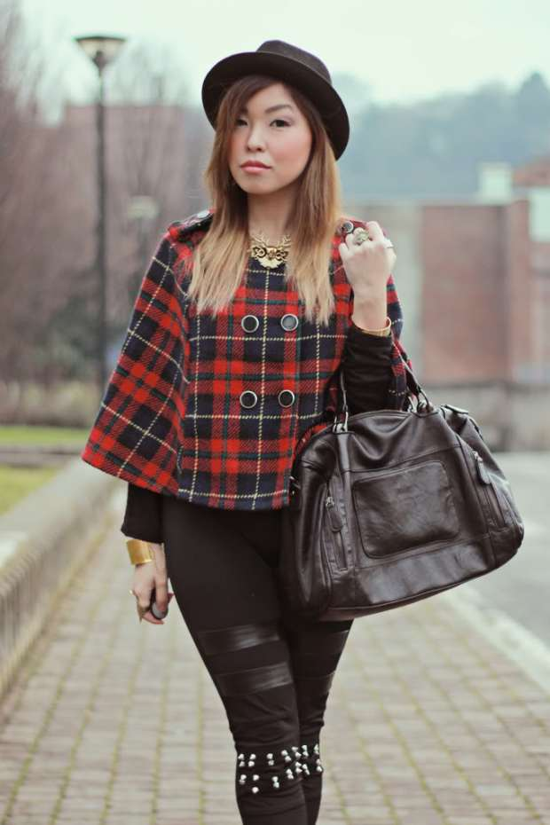 Plaid Cape YesStyle Fashion Angela Ricardo