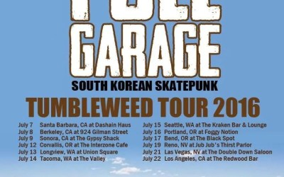 Full Garage US West Coast Tumbleweed Tour Starts July 7th