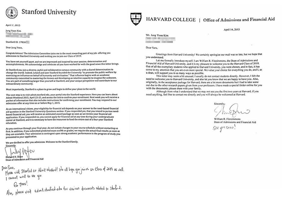 Father of \u0027math prodigy\u0027 issues apology \u2013 The Korea Times - college acceptance letters