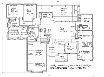 S4351L | Texas House Plans - Over 700 Proven Home Designs Online by Korel Home Designs