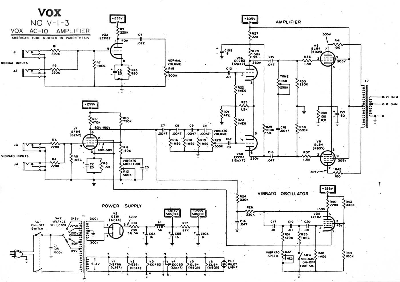 ac10 1960 alternative circuit diagram