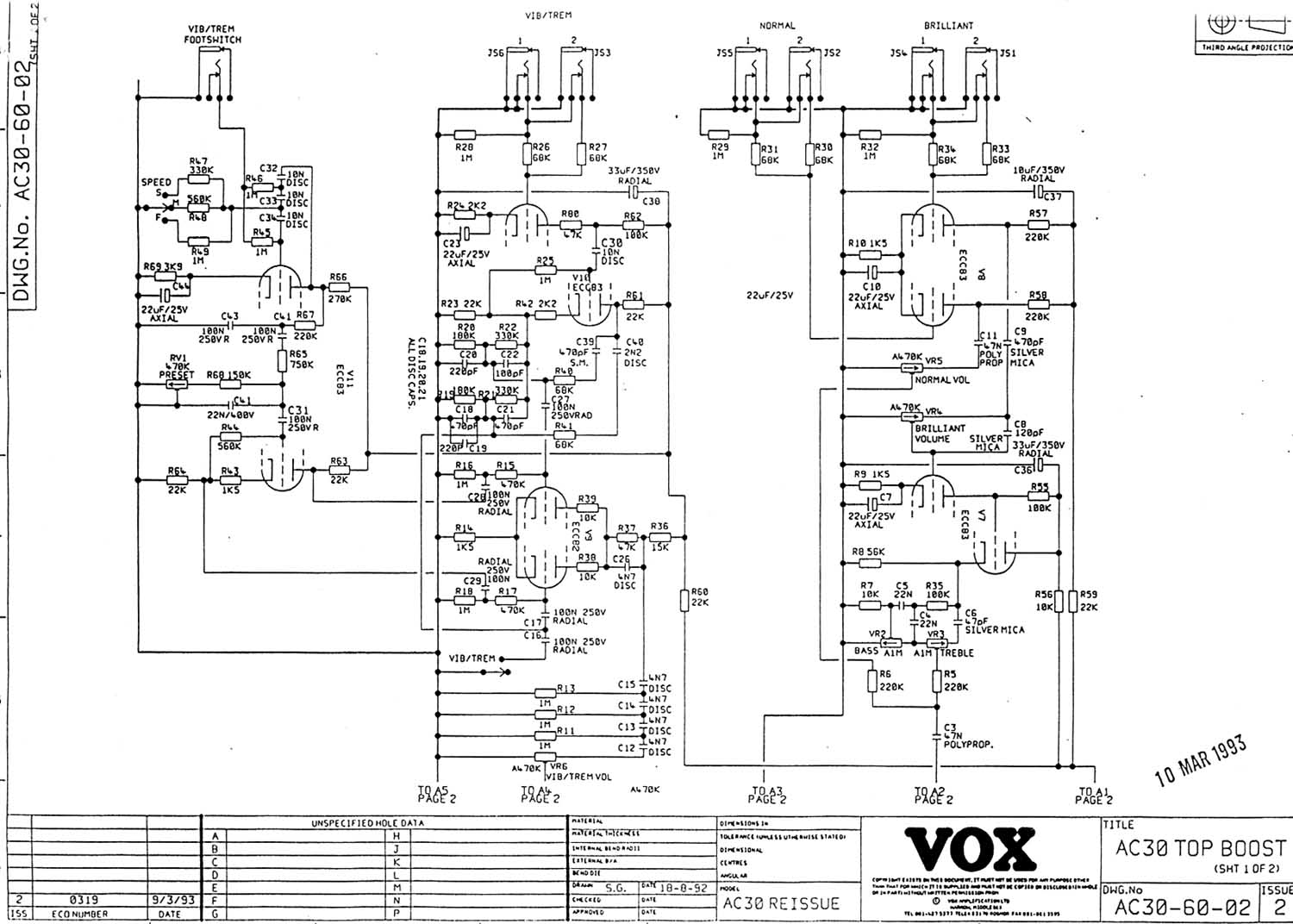 super foundation bass preamp stage 1969 diagram
