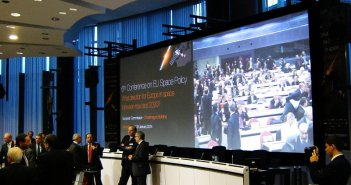 Photo taken just before the beginning of EU Space Policy conference / Credits - K. Kanawka, kosmonauta.net