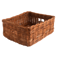 Oblong Wicker Storage Basket in 2 Sizes