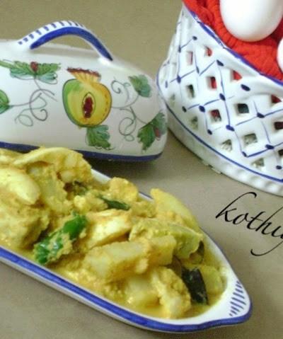Egg Aviyal Recipe – Mutta Aviyal Recipe   Egg in Thick Coconut Paste – Kerala Style