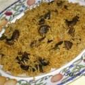 Microwave Mushroom Biryani