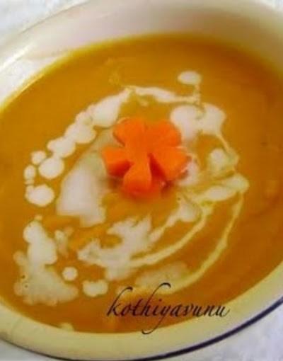 Carrot Ginger Coconut Milk Soup
