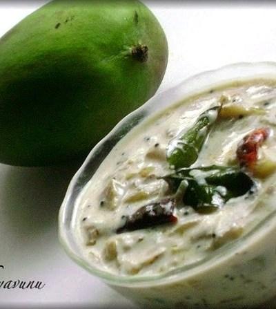 Pacha Manga Kichadi – Kerala Sadya Recipe – Raw Mango Yogurt Gravy