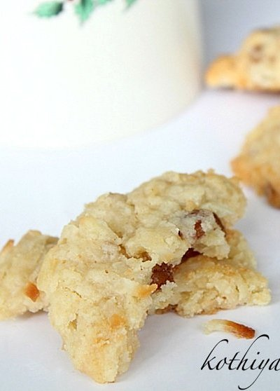 Oatmeal, Coconut & Pecan Cookies Recipe