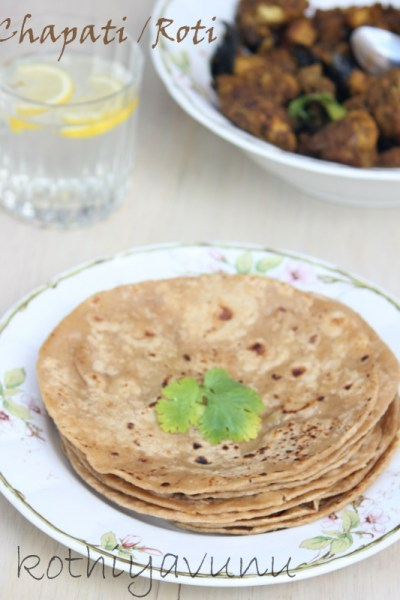 Chapati Recipe | Chapathi-Chappathi Recipe | Roti Recipe | Whole Wheat Indian Flat Bread
