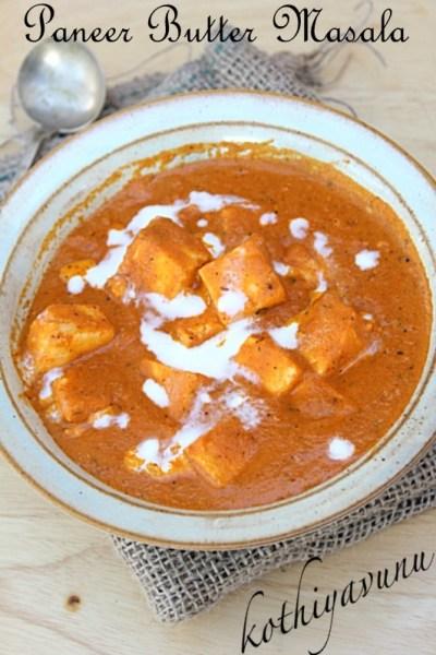 Paneer Butter Masala-Paneer Makhani Recipe- Butter Paneer