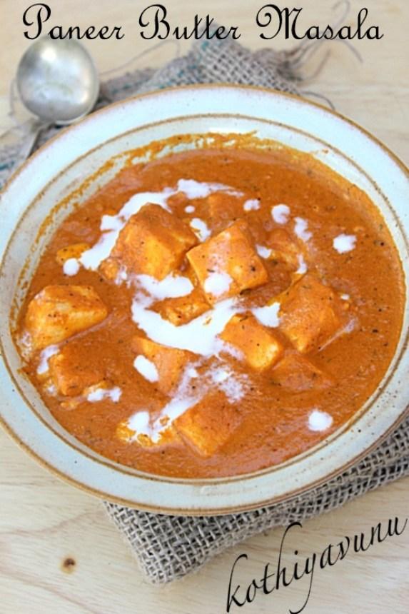 ... classic recipe Paneer Butter Masala -Butter Paneer -Paneer Makhani