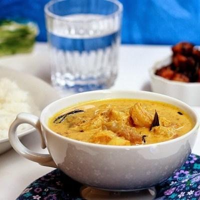 Prawn Mango Curry Recipe – Nadan Chemmeen Manga Curry Recipe