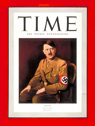 Hitler's Time Cover as Man Of The Year in 1938