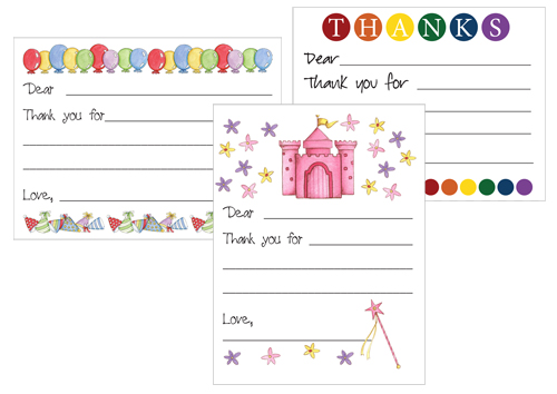 FREE Printable Thank You Card Templates for Kids - free thank you notes templates