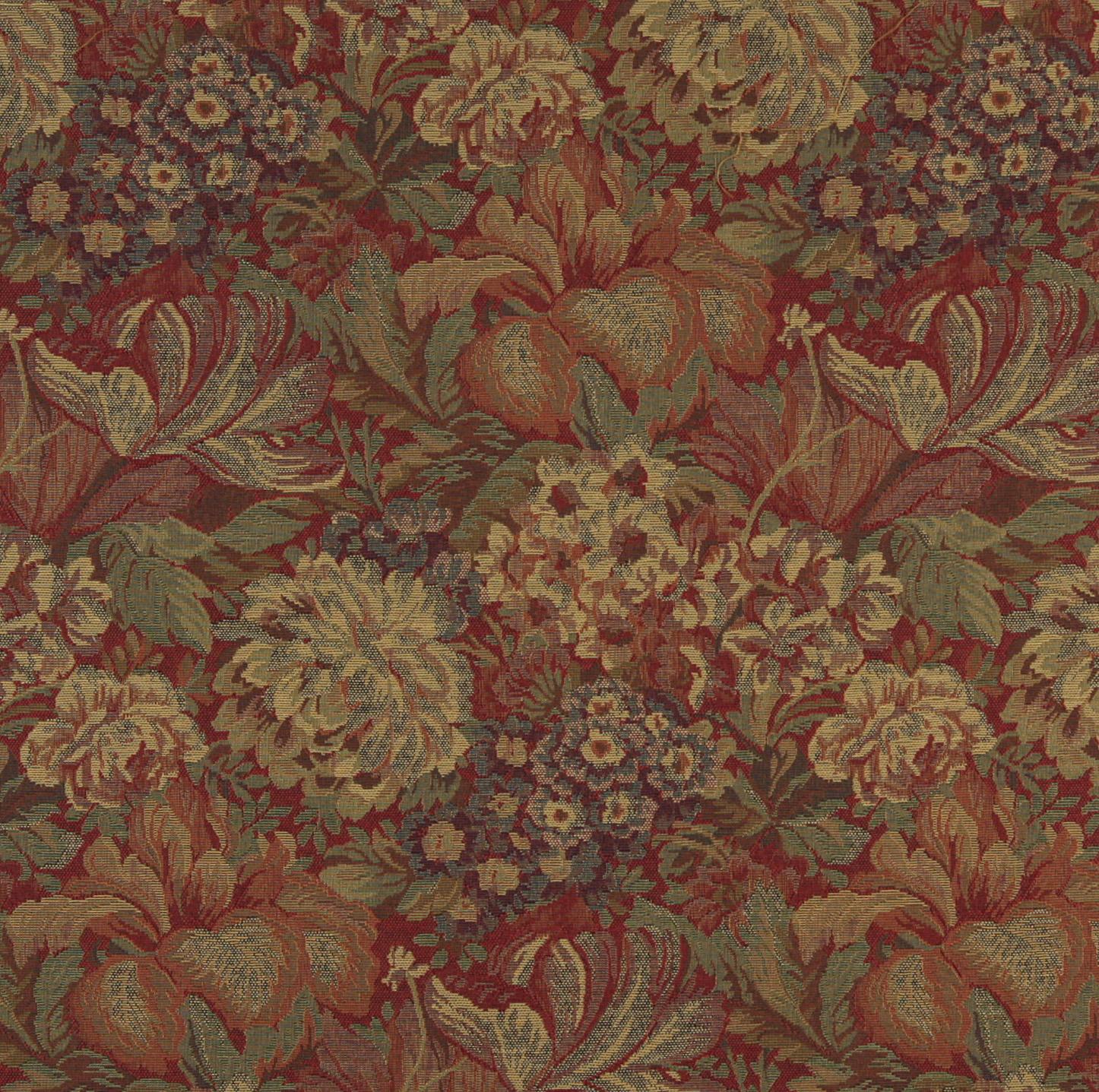 Blue Animal Print Wallpaper Beige And Burgundy Victorian Floral Garden Tapestry