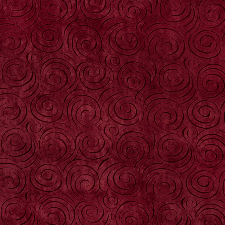 Purple Animal Print Wallpaper Merlot Burgundy Decorative Swirl Microfiber Velvet