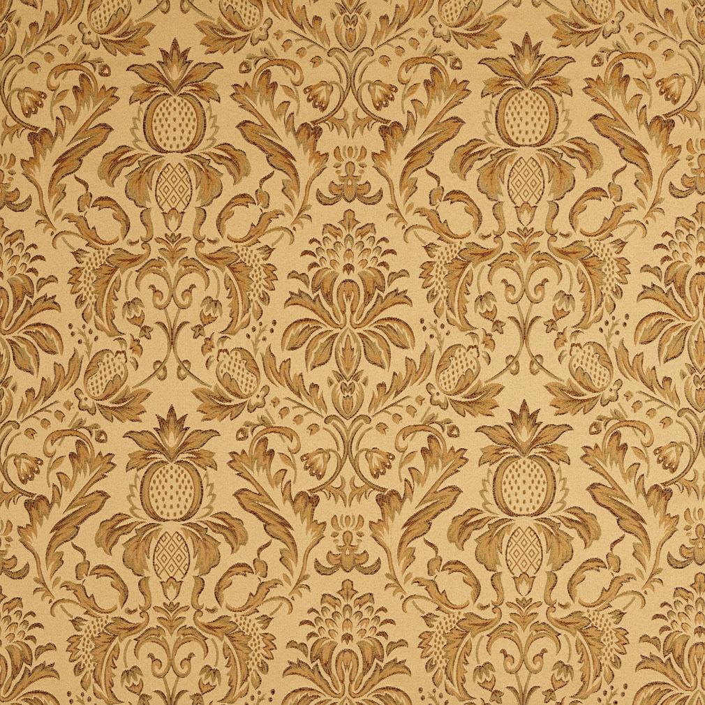 Metallic Animal Print Wallpaper Gold And Light Green Heirloom Damask Upholstery Fabric