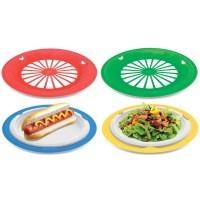 16 Plastic Reusable Paper Plate Holders (Multicolored) - KOVOT