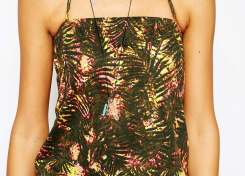 Noisy May Tall Tropical Print Jumpsuit-2