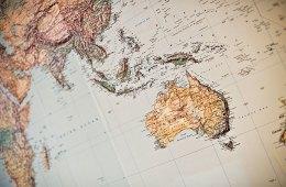 Weltkarte, Australien