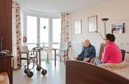 Zimmer, Herr Matzke, Bett, Tisch