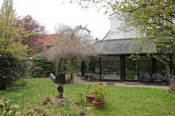 Grünfläche, Haus, Garten