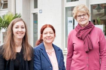 Ilona Heinz, Carolin Clever und Luise Klecha
