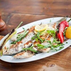 Dorade, Fisch, Teller