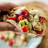 Greek Chicken Tacos with Whipped Feta